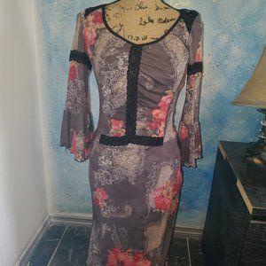 Cute Lace Print Dress
